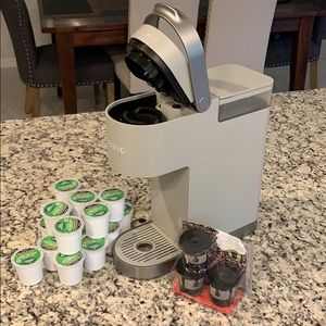 Keurig Mini Plus Gray Barely Used K Cups Filters